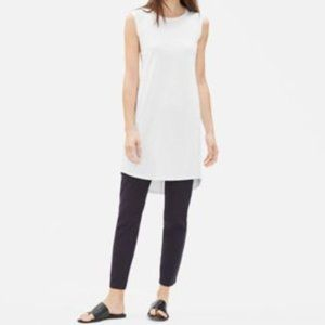 NWT Eileen Fisher Scoop Neck White Dress Tunic Med